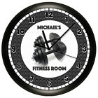 EXERCISE ROOM WALL CLOCK PERSONALIZED WEIGHTS GYM WORKOUT CENTER FITNESS
