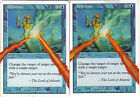 DEFLECTION x 2- 7th - ALTERED - Altered Art - MP - MTG - Magic the Gatering