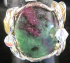 USA Ruby & Rubyzoisite handcrafted Pharaoh ring sizes: 6 - 15 gold, silver  #441