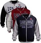 Mens Varsity Jacket London England College Baseball Jacket Sweat Casual Jumper
