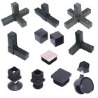 """Square 25mm Tube Connectors Plastic - Diy Alloy Shelfs Tables Stands - 1"""" Tube"""