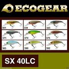 Ecogear SX40LC Bream Bass Trout Spin Fishing Rod Lures for spin & baitcast reels