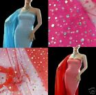by Yards Sparkle Sequin Mesh Tulle Fabric for Tutu Lining Wedding Decorate wazp