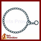 German Made Check Chain Dog Collar. NOT Choke. 4.0mm Chrome Round Links