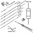 4, 5, 5.5,6 & 7ft SPINLOCK BARBELL WEIGHT WEIGHTS BAR COLLARS TRICEP LIFTING