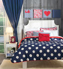Girls and Teens Twin, Queen and King Size Sail polka dots Comforter Set