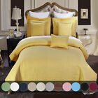 Luxury Checkered Quilted Coverlets Wrinkle Free 2-3 Pieces Coverlet Set image