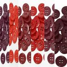 "15mm 5/8"" sz 24 plastic 4 hole coat suit shirt red 100-1000 buttons wholesale"