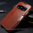 Genuine Leather Smart Wake Sleep View Cover Case For SAMSUNG GALAXY S4 IV i9500