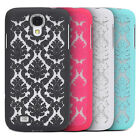 Samsung Galaxy S5 / S4 Damask Vintage Pattern Rubber Matte Hard Back Case Cover