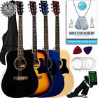 Stretton Payne Dreadnought Full Sized Steel String Acoustic Guitar PACKAGE D1