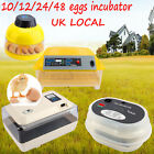 FARM DIGITAL AUTOMATIC CHICKEN 10 12 60 96 EGG INCUBATORS POULTRY FULLY HARCHER