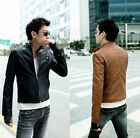 Hot sell New Men's Slim Fit Designed Sexy PU Leather Luxury Short Jackets Coat V