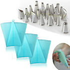Icing Piping Nozzle Cupcake Fondant Cake Decorating Silicone Bag Modelling Tools