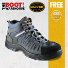 Oliver Work Boots, 44-535, Blue/Grey Lace-Up Hiker, Composite Toe Cap Safety
