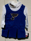 St Louis BLUES Infant Cheerleader Dress 12m 18m 24m NWT NEW Jersey