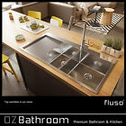 New Stainless steel kitchen sink 1 & 1/2 Bowls chanel drainer top mount drop in