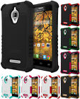 DUO-SHIELD RUGGED RUBBER SKIN HARD CASE COVER FOR ALCATEL ONE TOUCH FIERCE 7024W