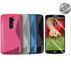 S-LINE GEL TPU SKIN+SCREEN PROTECTOR Case Cover for LG Optimus G2 D800 D801
