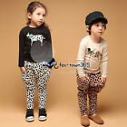 Spring Boys Girls Child Kids Spotty dog Shirt&Harem Trousers Pants Sets 2-7Y