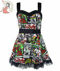 HELL BUNNY B-MOVIE horror CARTOON MINI DRESS