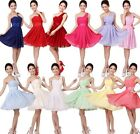 Hot Women's Sexy Party Evening Wedding Bridesmaid Prom Ball Short Dress Formal