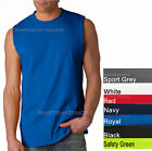Gildan Mens Sleeveless Muscle T-Shirt Shooter Cotton S-2XL Gym Run Basketball  image