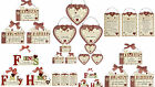 Wooden Home Friend Family Wall Door Message Sign Plaque Shabby rustic Chic Heart