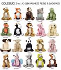 NEW Goldbug Child/Toddler 2 in 1 Harness & Backpack - Goldbug Animal Buddy Reins