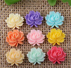 Wholesale 50pcs/150pcs Resin mix color flower Flatbacks 14x15mm