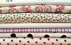 100% cotton QUILTING fabric prints : assorted WHITE tones cut to order