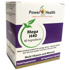 Power Health Mega H40 Multi Vitamin Capsules- Choice of 2 sizes (One supplied)