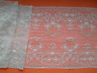 """Superb Ivory Coffee Gold Stretch French  LACE 8.5"""" Wedding/Bride/Lingerie"""