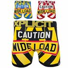 Xplicit Men's Stag Do'Caution' New Funny Rude Novelty Boxer Shorts Boxers