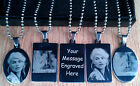 Personalised Photo/Text Engraved Stainless Steel Necklace Pendant Army Tags Gift