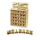 WOODEN TRAIN LETTERS PERSONALISED NAME CHRISTENING GIFT XMAS STOCKING FILLER TOY