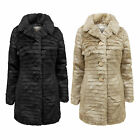 NEW BRAVE SOUL LADIES SOFT FAUX FUR WOMENS COAT VINTAGE WARM JACKET TOP 8-16