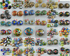 Mixed Cloisonne Enamel Flat Spacers O64