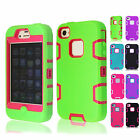 Multi Color Unique Shockproof Hybrid Phone Cases Cover Skin Back For iPhone 4/4S