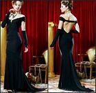 Sexy Women Evening Party Prom Long Celebration Body Dress&Gloves 6-16 20767