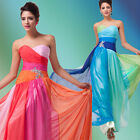 Charming Formal Prom Homecoming Evening Party Bridesmaid Dress Ballgown Blue/Red