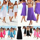 Sexy Ladies Bikini Beach Dress Cover Up Strapless Bandeau Swimwear Skirts New