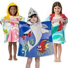 """Northpoint Kids 24""""x48"""" 100% Cotton Hooded Beach Towel-Boys & Girls"""