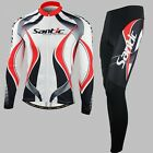 New Cycling Jacket Bicycle Bike Outdoor Jersey+3D Padded Shorts Pants Set M-3XL