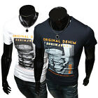Cool Men Tops Slim Fit Short Sleeve T-Shirts Comfy Casual Muscle Blouse XS S M L