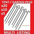 METAL TENT PEGS ~ Quantities 1, 5, 10 or 20 ~ GARDEN NETTING PEGS 9""