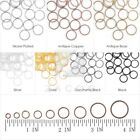 Open Jump Rings Connectors Round Iron Wholesale Findings 3/4/5/6/7/8/910/12/14mm