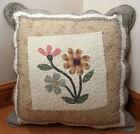 Shabby Chic Country Patchwork Floral Gingham 22 x 22 Quilted Cushion Cover Large