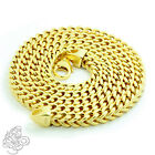 Mens Franco Chain Necklace 14k Yellow Gold Plated Sterling Silver Italy Made NEW