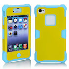 COOL 3-in-1 Design Shockproof Luminous Hybrid Case Cover For Apple iPhone 4/4S